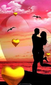 Love Sunset HD live wallpaper poster
