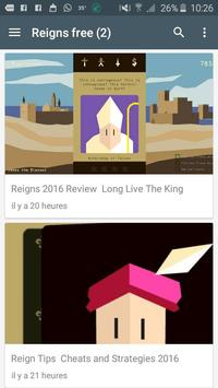 Reigns Free Tips Cheats poster