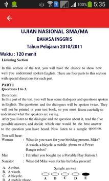 Soal UN B. Inggris SMA dan Pembahasan screenshot 1