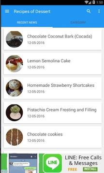 Recipes of Desserts 100+ apk screenshot