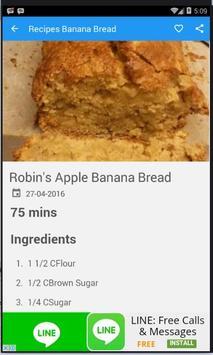 Recipes Banana Bread 100+ apk screenshot