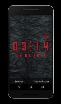 Gel Clock Live Wallpaper poster