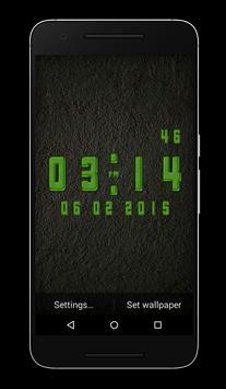 Gel Clock Live Wallpaper apk screenshot