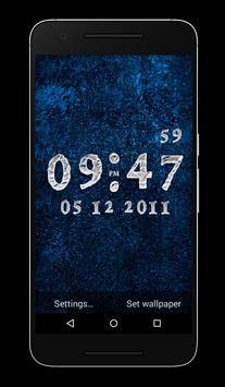 Ice Clock Live Wallpaper poster