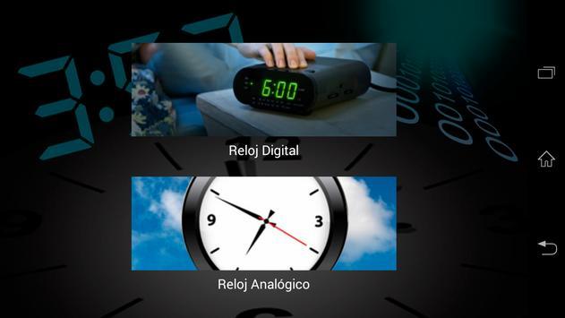 Reloj Analógico Digital poster