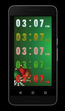 Christmas Clock Live Wallpaper apk screenshot