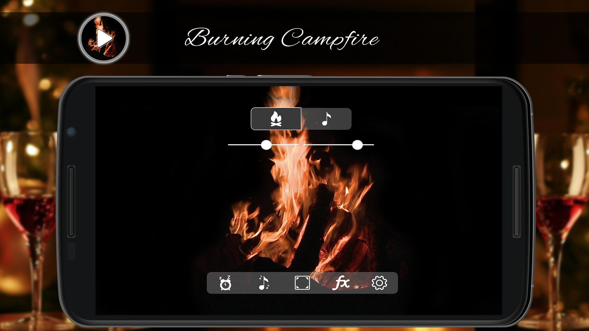 Burning Campfire Crackling for Android - APK Download