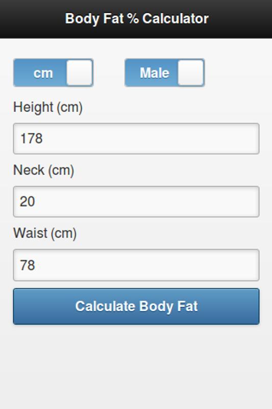 body fat percentage calculator apk ड उनल ड ए डर यड