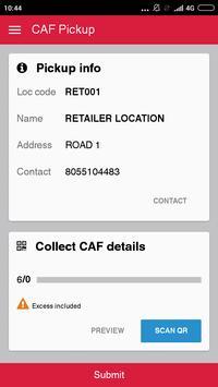 CAF Pickup apk screenshot