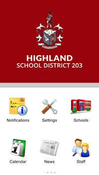 Highland School District 203 poster