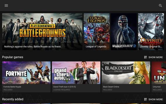 Vortex Cloud Gaming (Unreleased) apk screenshot