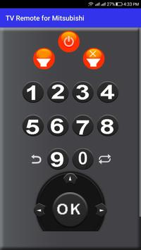 TV Remote for Mitsubishi screenshot 1