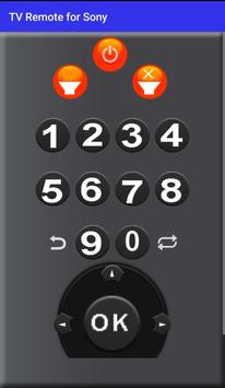 Remote Control for sony TV screenshot 1