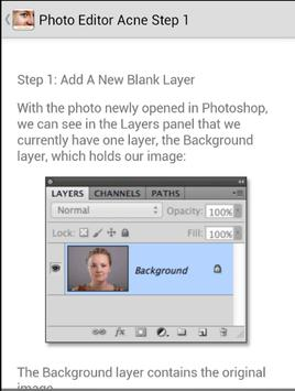 Remove Blemishes Technique apk screenshot