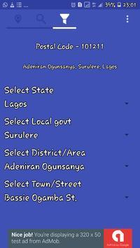 My Location - Nigeria Postal Codes screenshot 2