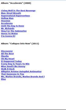 R.E.M. Lyrics apk screenshot