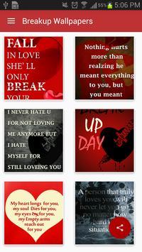 Break Up Quotes Wallpaper poster