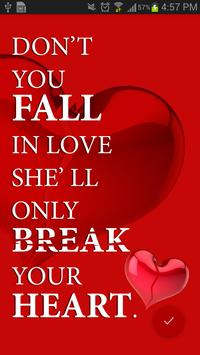 Break Up Quotes Wallpaper apk screenshot