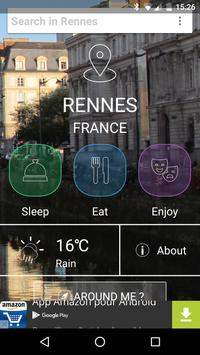 Rennes City Guide poster