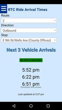 Reno RTC Ride Bus Tracker poster