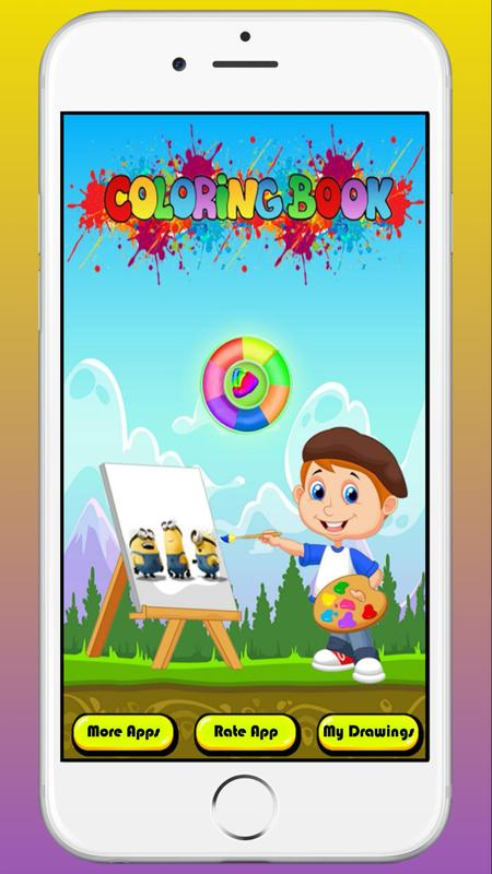 Coloring Books For Minions Character Apk Screenshot