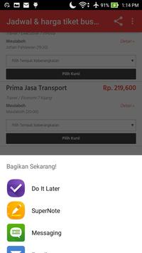 Harga Tiket Bus screenshot 3