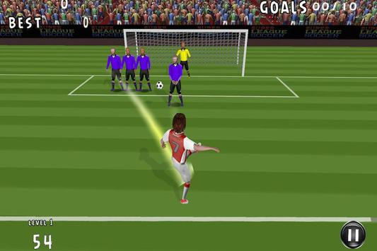 Flick Shoot Soccer Penalty 3D poster