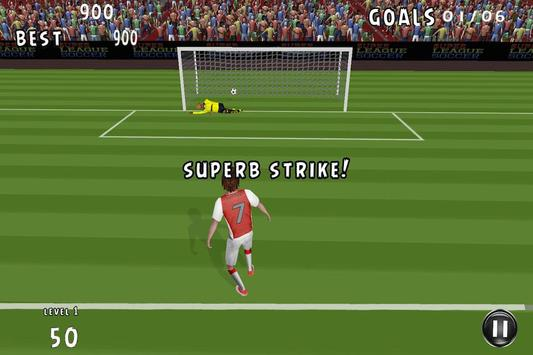 Flick Shoot Soccer Penalty 3D apk screenshot