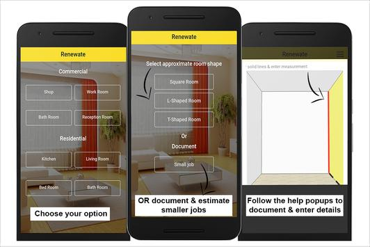 Renewate: India Interiors Estimation & Calculator apk screenshot