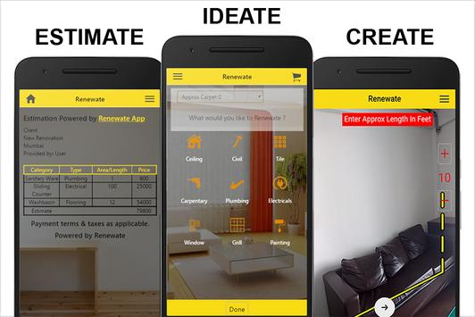 Renewate : Easy Renovation Estimation & Booking poster