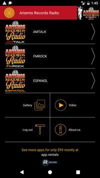 Artemis Records Radio poster