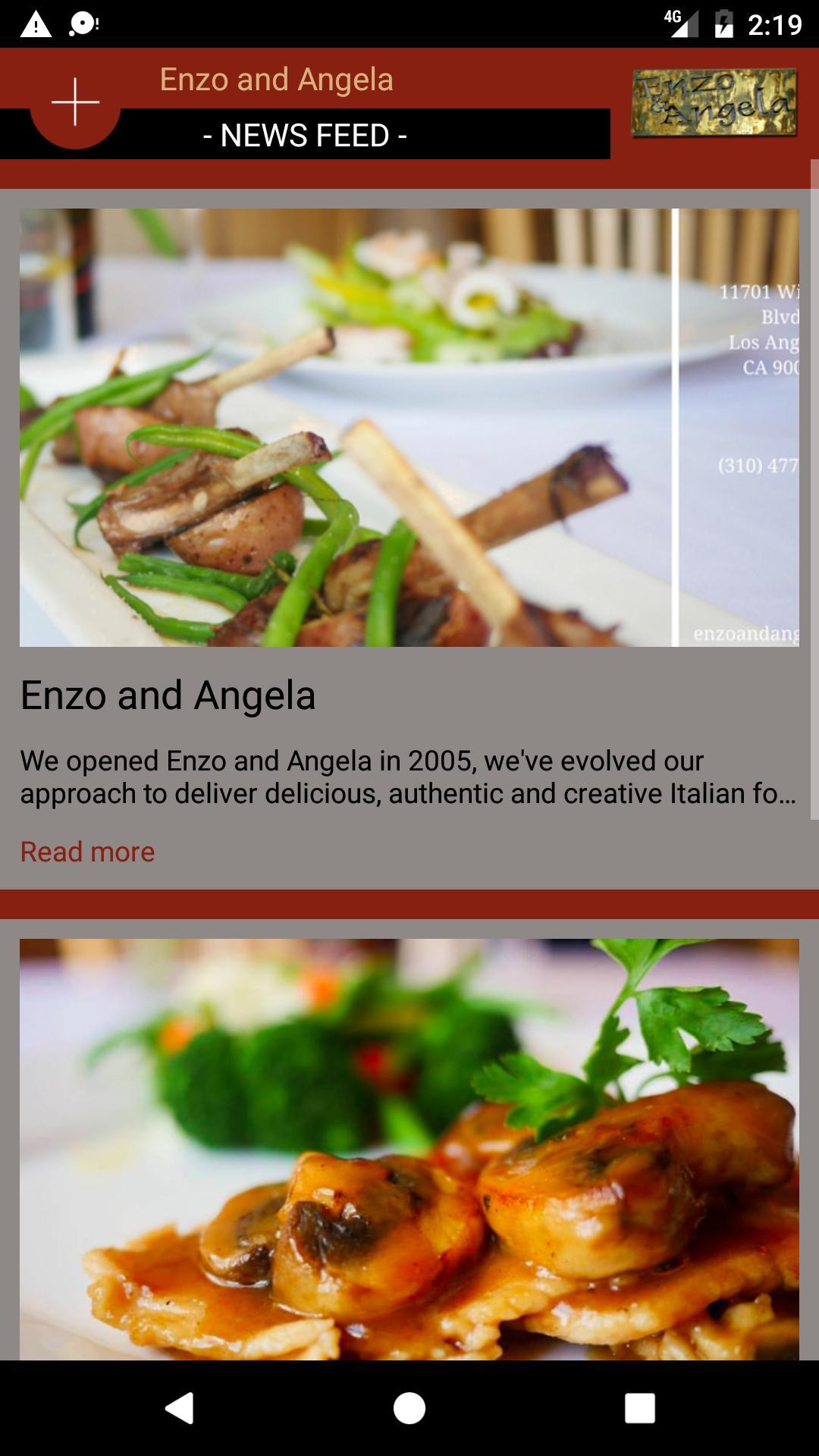 Enzo and Angela poster