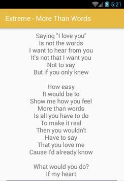Extreme Lyrics Full Album Song apk screenshot