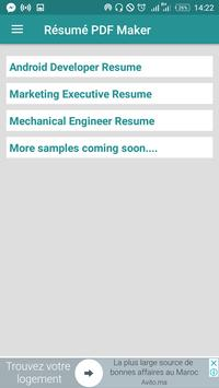 free resume builder pdf formats cv maker templates apk download