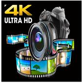 4K Resolution Video Camera icon