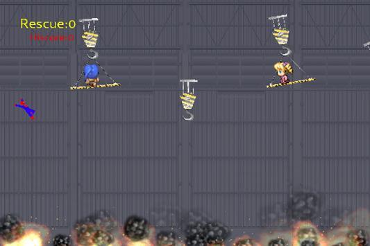 Spider Rescue Hero - Rope Swing screenshot 1