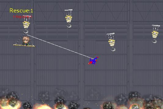 Spider Rescue Hero - Rope Swing screenshot 2