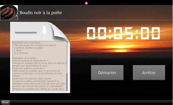 Minuteur Cuisine pour Tablette apk screenshot