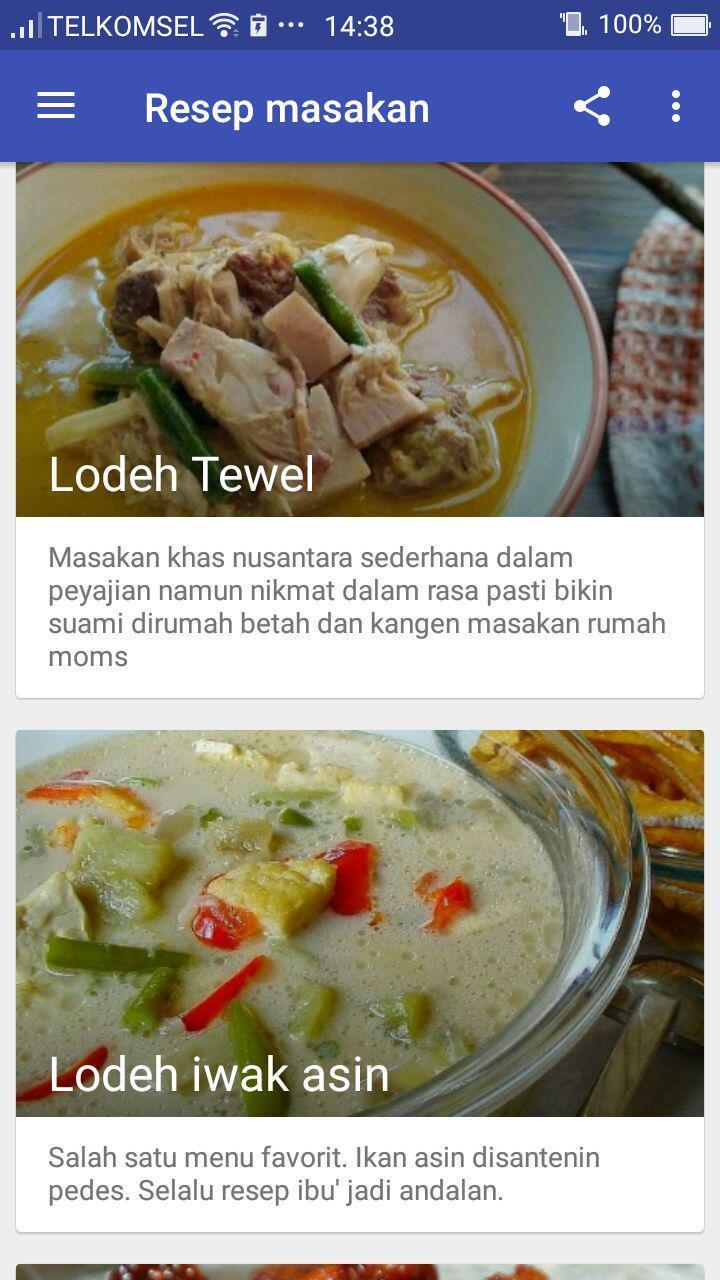 100 Resep Masakan Indonesia - Aneka Resep Terbaik