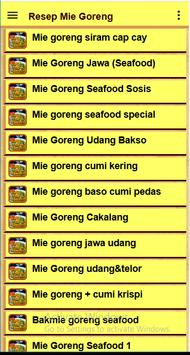 Resep Mie goreng screenshot 3