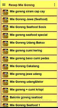 Resep Mie goreng screenshot 17