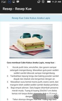 Resep aneka kue bolu apk screenshot