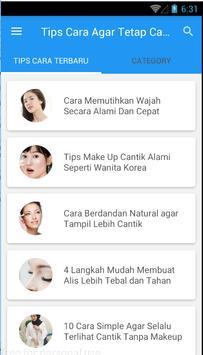 Tips Cara Agar Tetap Cantik Sehat Alami screenshot 1