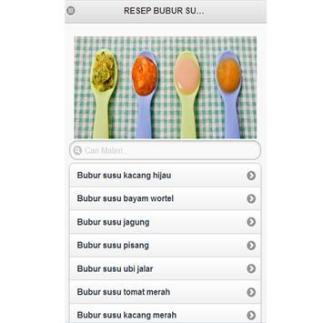 Resep Buubur Susu screenshot 1