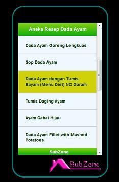 Aneka Resep Dada Ayam apk screenshot