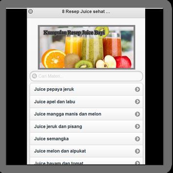 Resep Juice Sehat Bayi screenshot 1