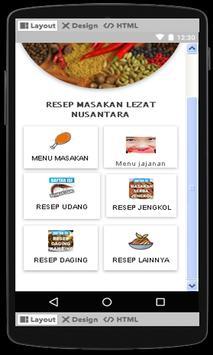 Resep Masakan lezat Nusantara apk screenshot
