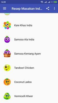 Resep Masakan Dan Cemilan India Offline screenshot 1