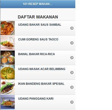 101 RESEP MASAKAN SEA FOOD poster