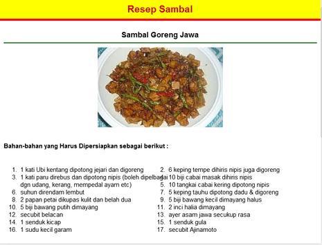 Resep Sambal screenshot 2
